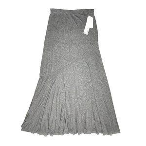 Lapis Lightweight Grey Rayon Maxi Skirt